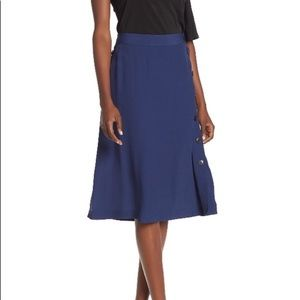 | Madewell | solid side button skirt in Nightfall